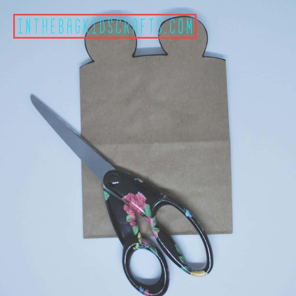 Teddy Bear Gift Bag Step 2