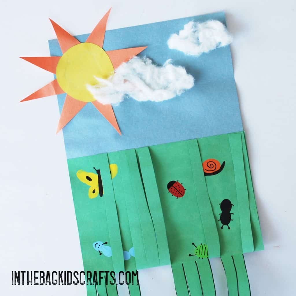 BUGS IN THE GRASS CRAFTS FOR KIDS