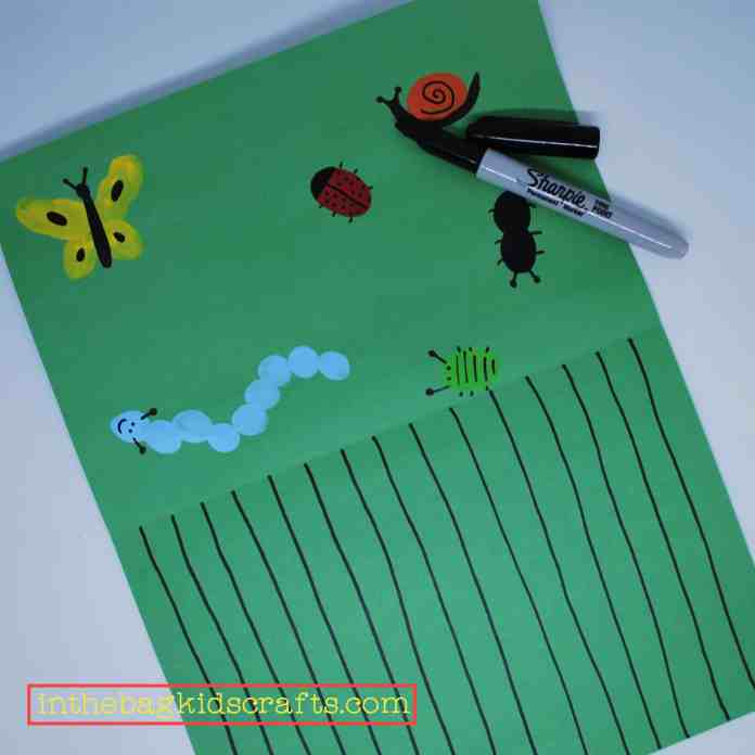 bugs in the grass scissor activity