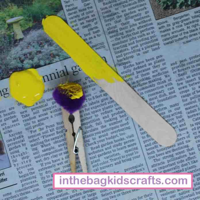 Squeegy Painted Butterfly Easy Kids' Craft for Spring Step 3