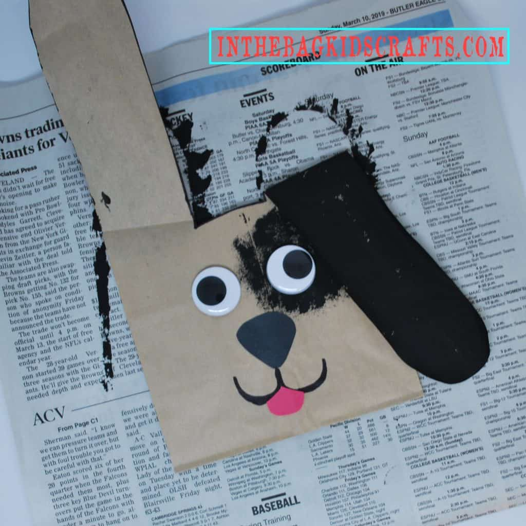 Puppy Gift Bag Step 6