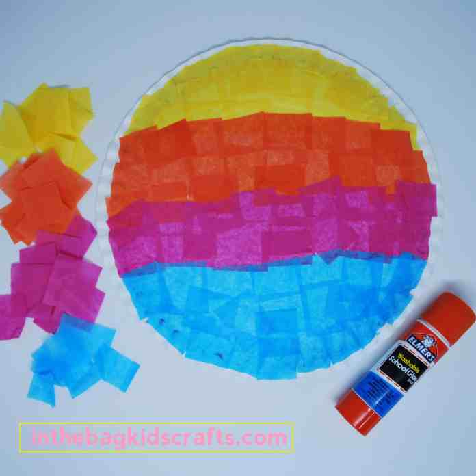 Easy Kids' Craft Sunset Silhouette