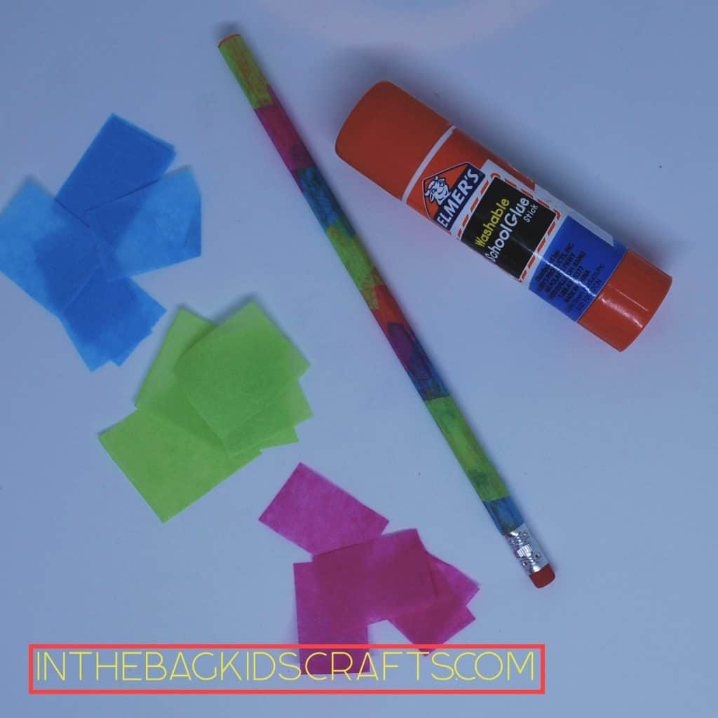 Tissue Paper Decorated Pencil