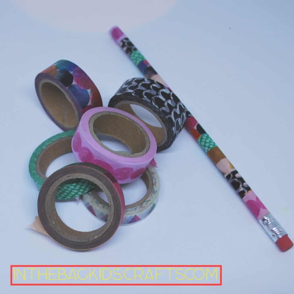 Washi Tape Decorated Pencil