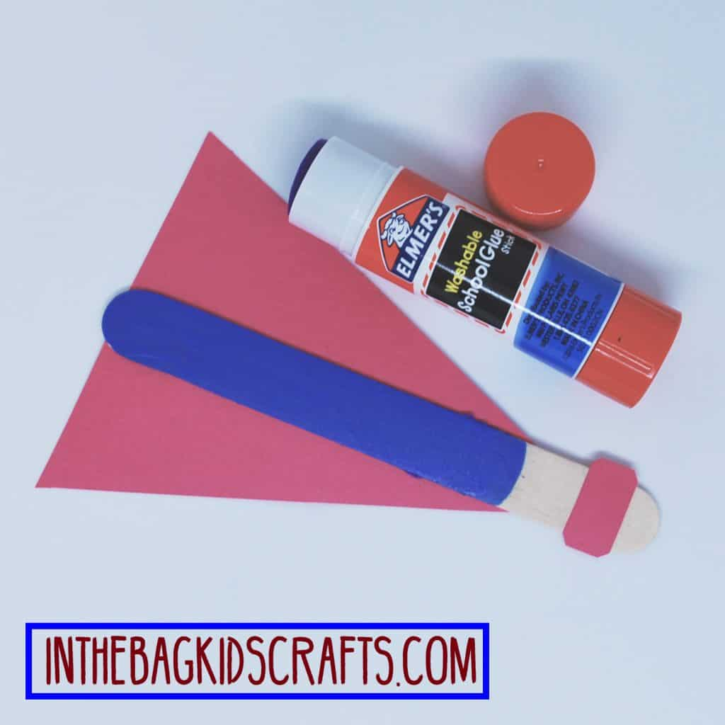 father's day easy kids' craft: super hero card step 2b