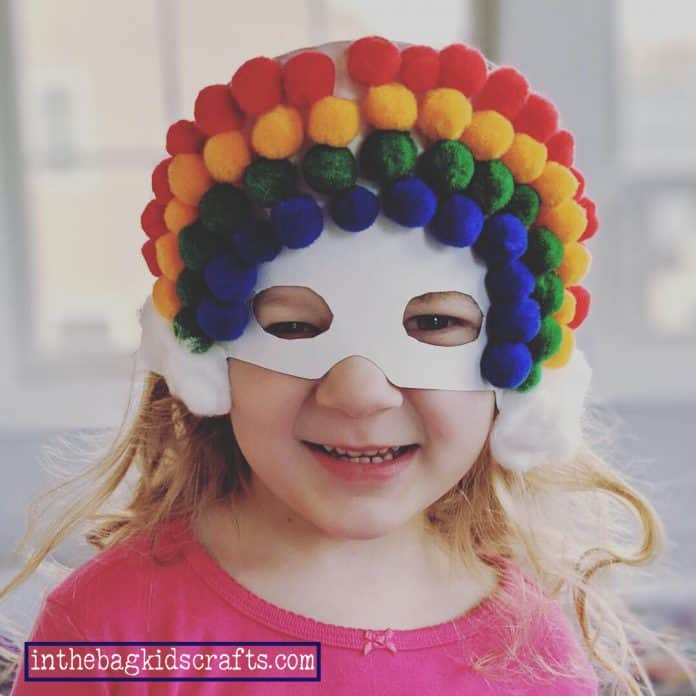 rainbow mask kids' craft