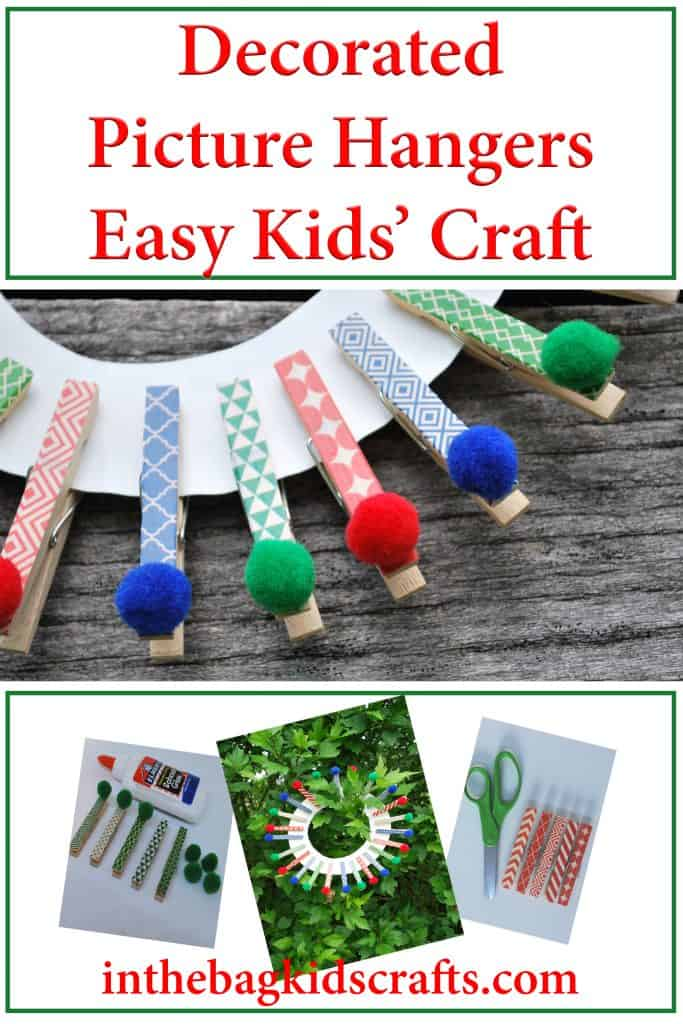 Decorative Clips with Washi Tape Easy Kids' Craft