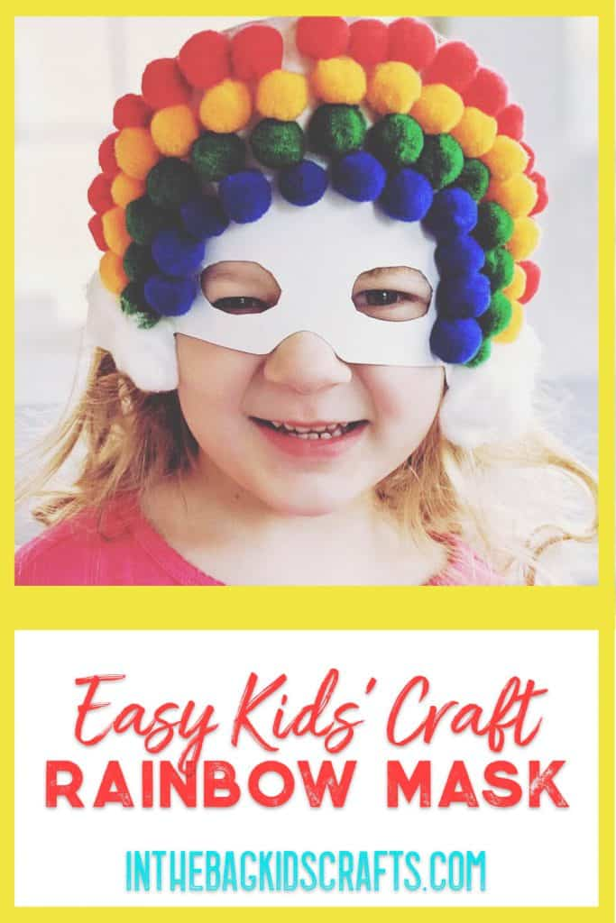 rainbow mask kids craft
