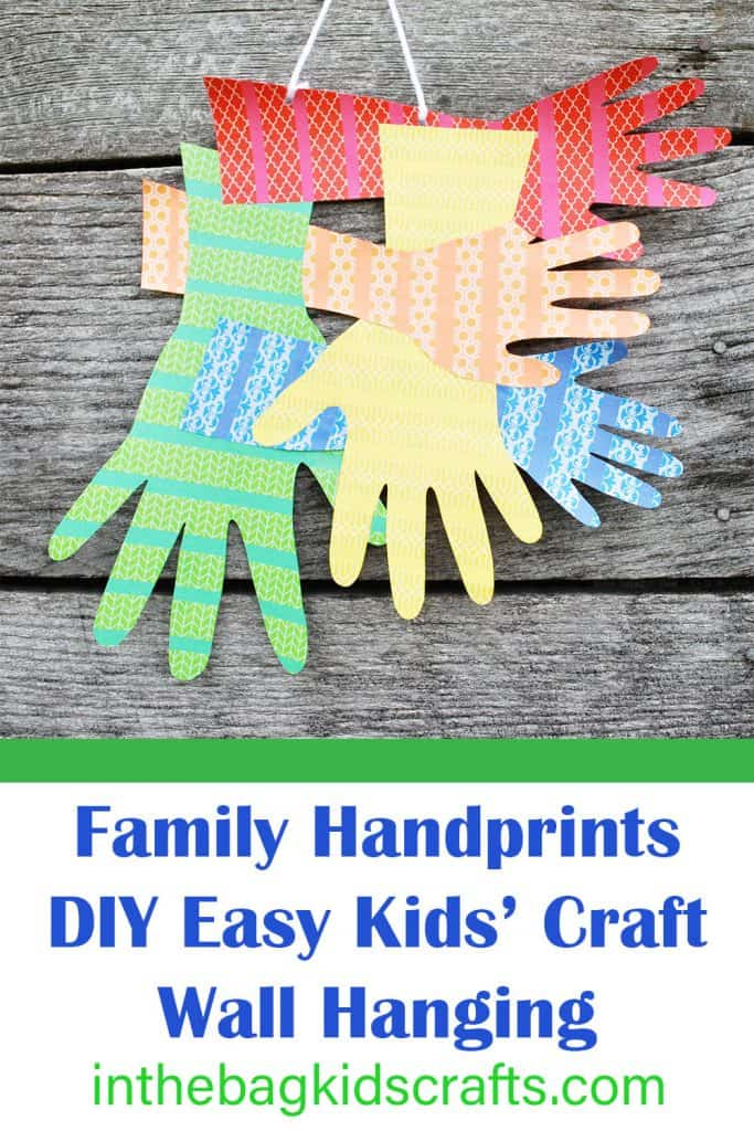kids craft wall hanging handprints