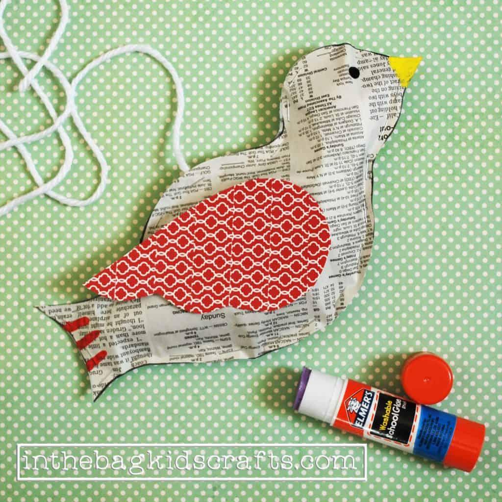 Easy Kids Craft Songbird Step 8