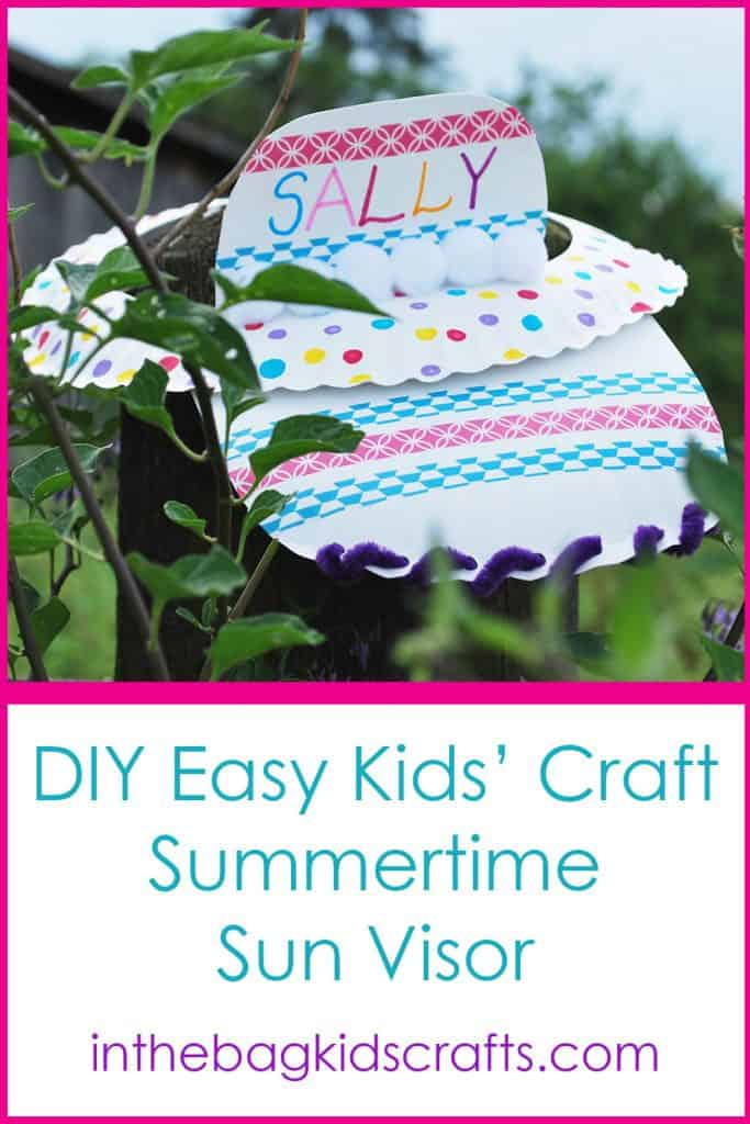 Summertime kids' craft sun visor