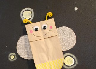 FIREFLY PAPER BAG PUPPET