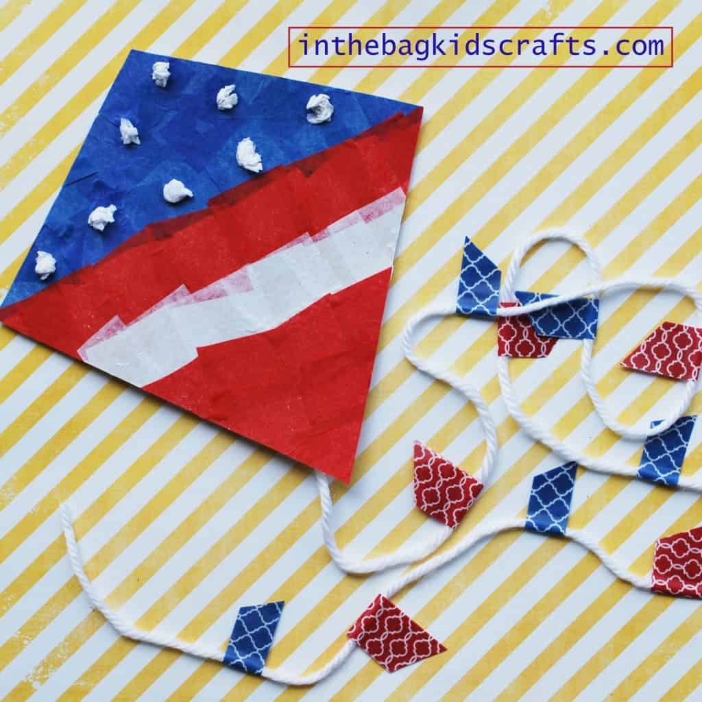 Activities to Develop Fine Motor Skills PATRIOTIC KITE CRAFT FOR KIDS