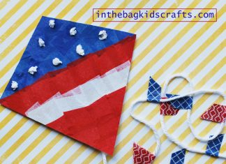 PATRIOTIC KITE CRAFT FOR KIDS