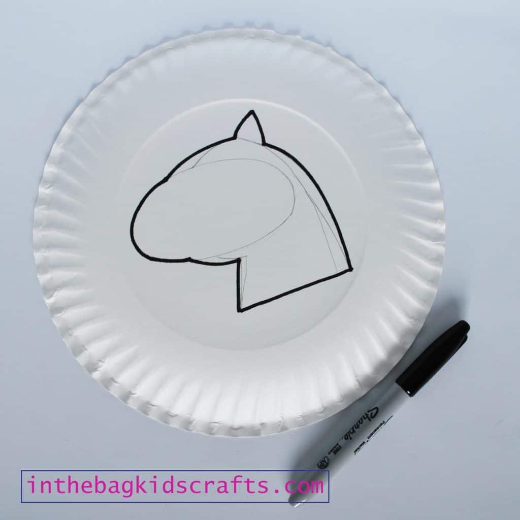 unicorn kids craft step 1