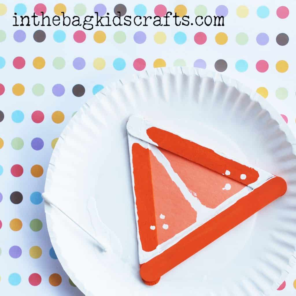 Easy Summertime Kids Craft Orange slice step 6