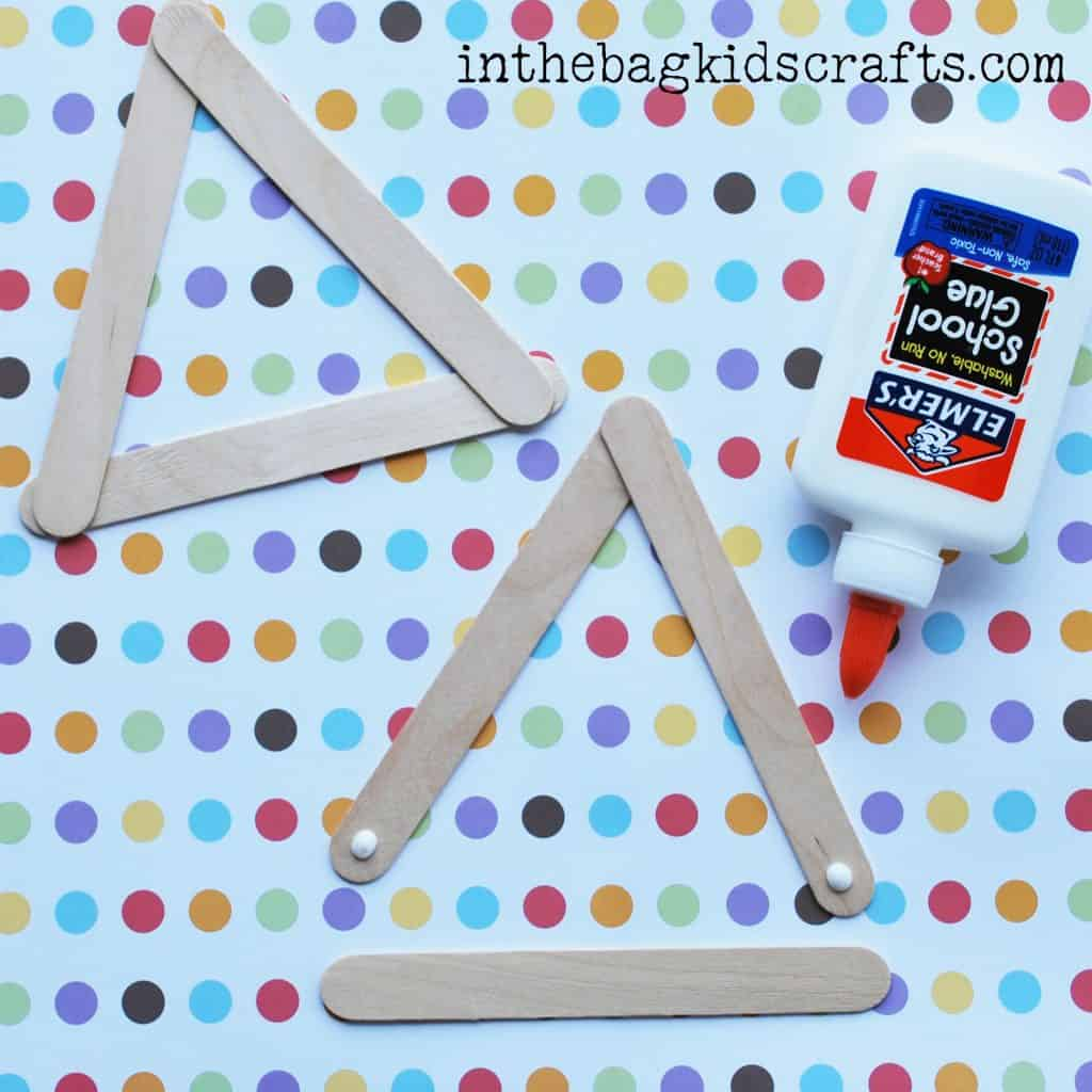 Popsicle stick triangles