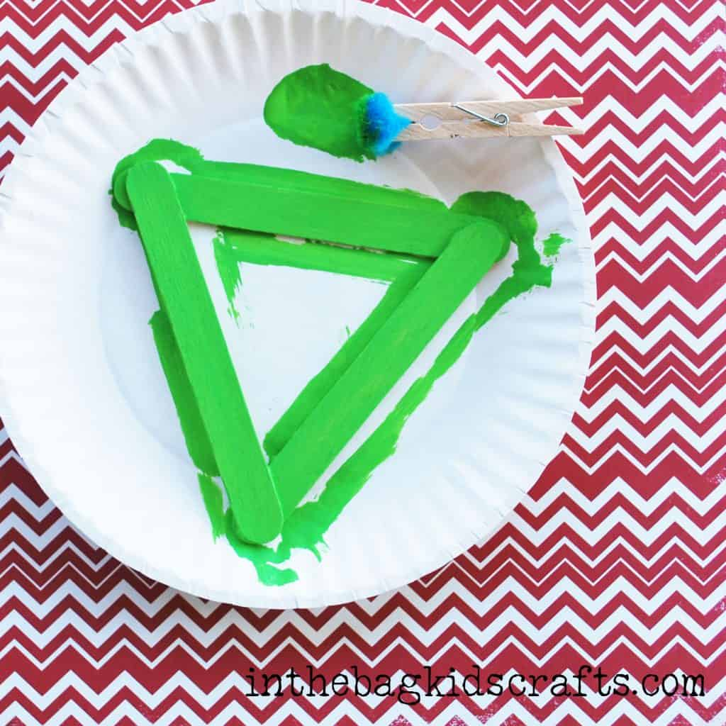 Easy Summertime Kids Craft Pear step 3