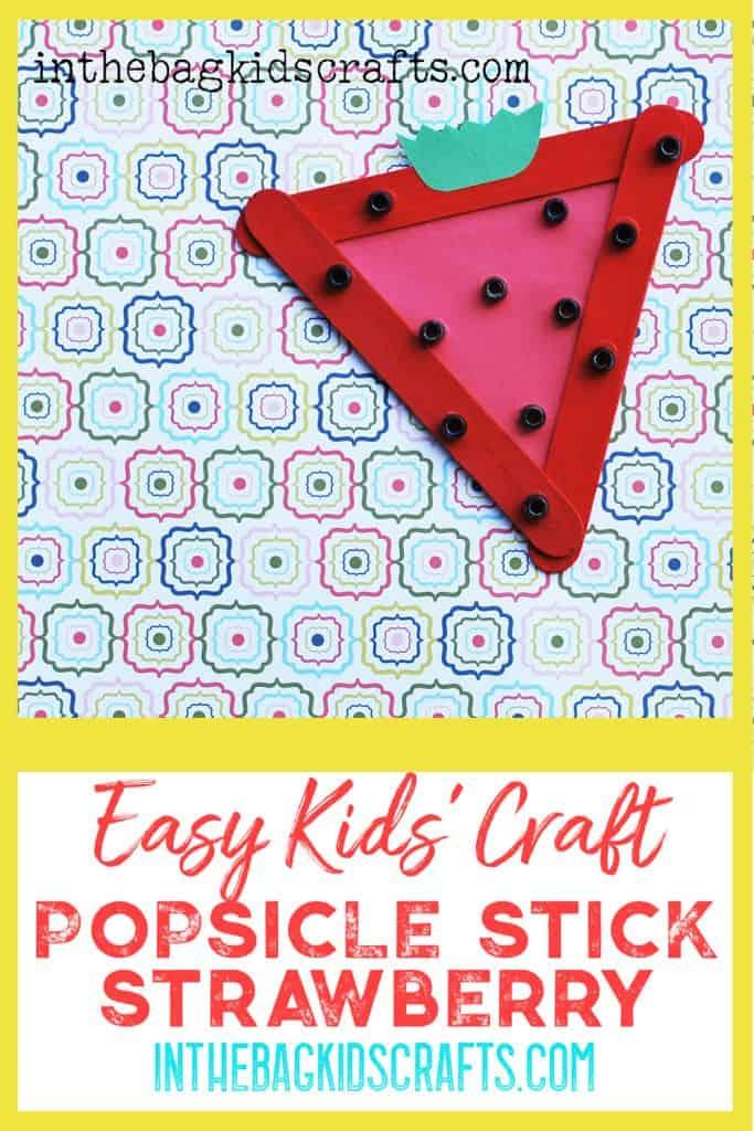 Popsicle Stick Strawberry
