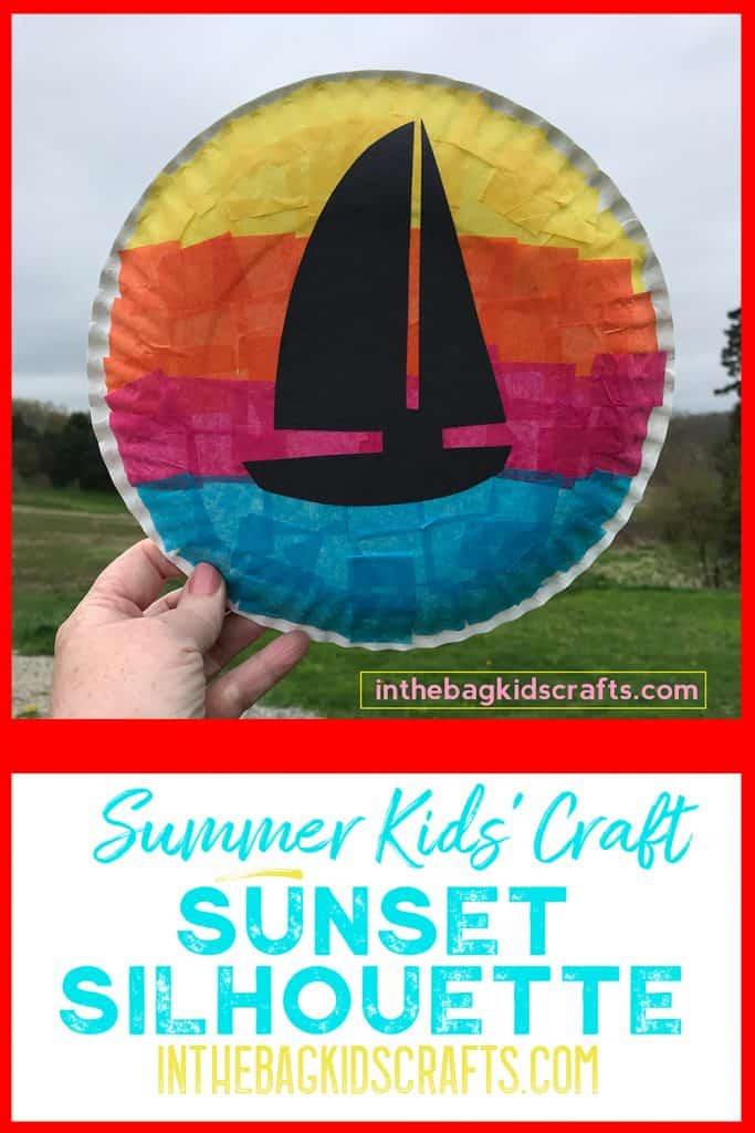 Summertime Kids Craft Sunset Silhouettes