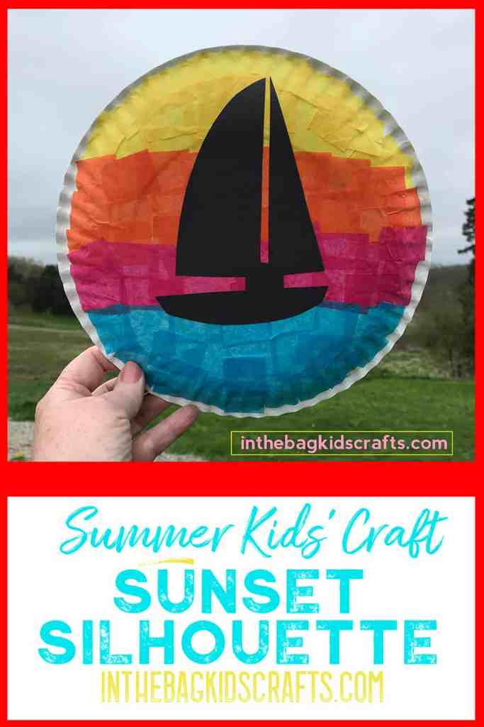 Summertime Kids Craft Sunset Silhouettes