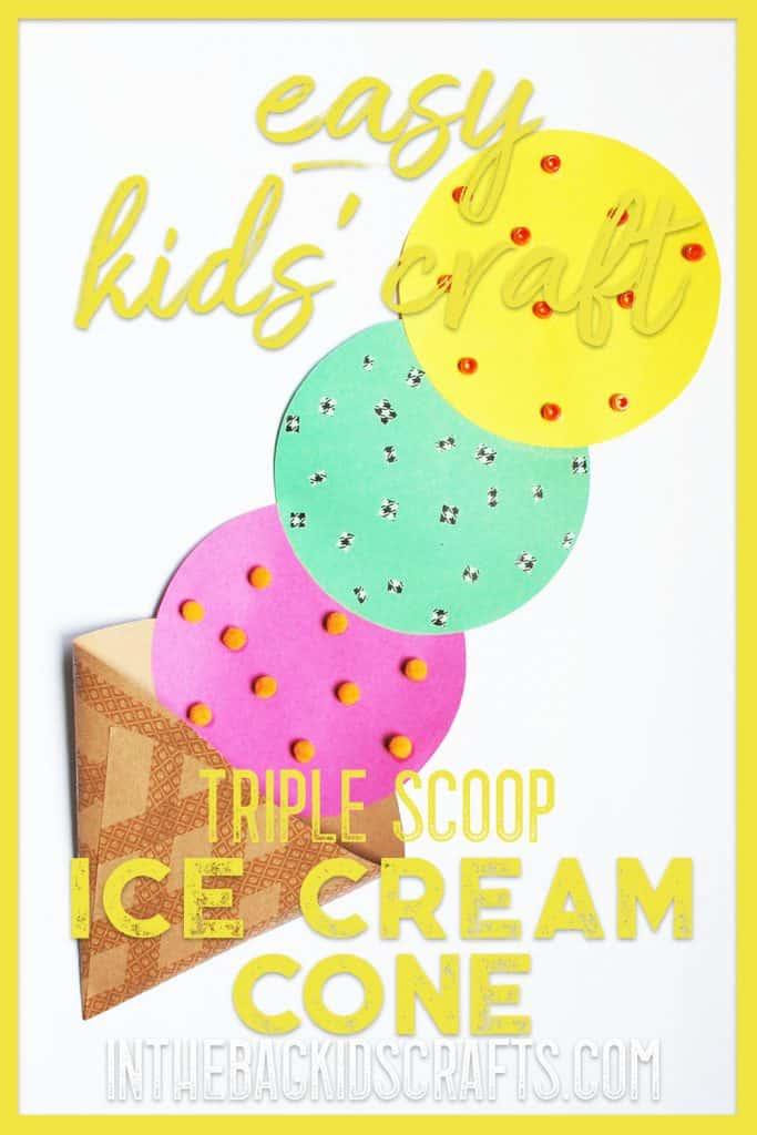 ice cream cone kids craft