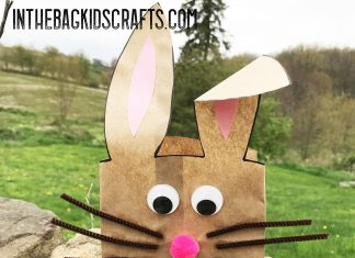 bunny gift bag kids' craft