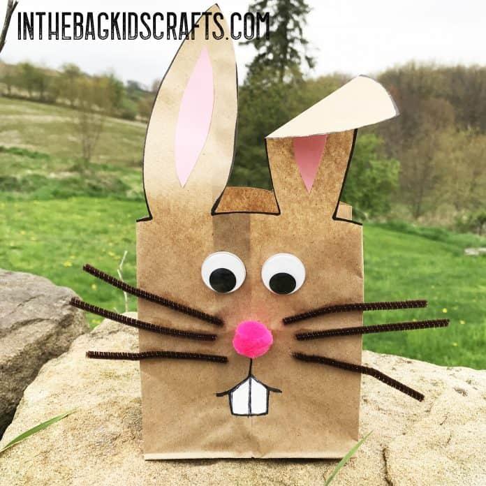 bunny gift bag kids' craft