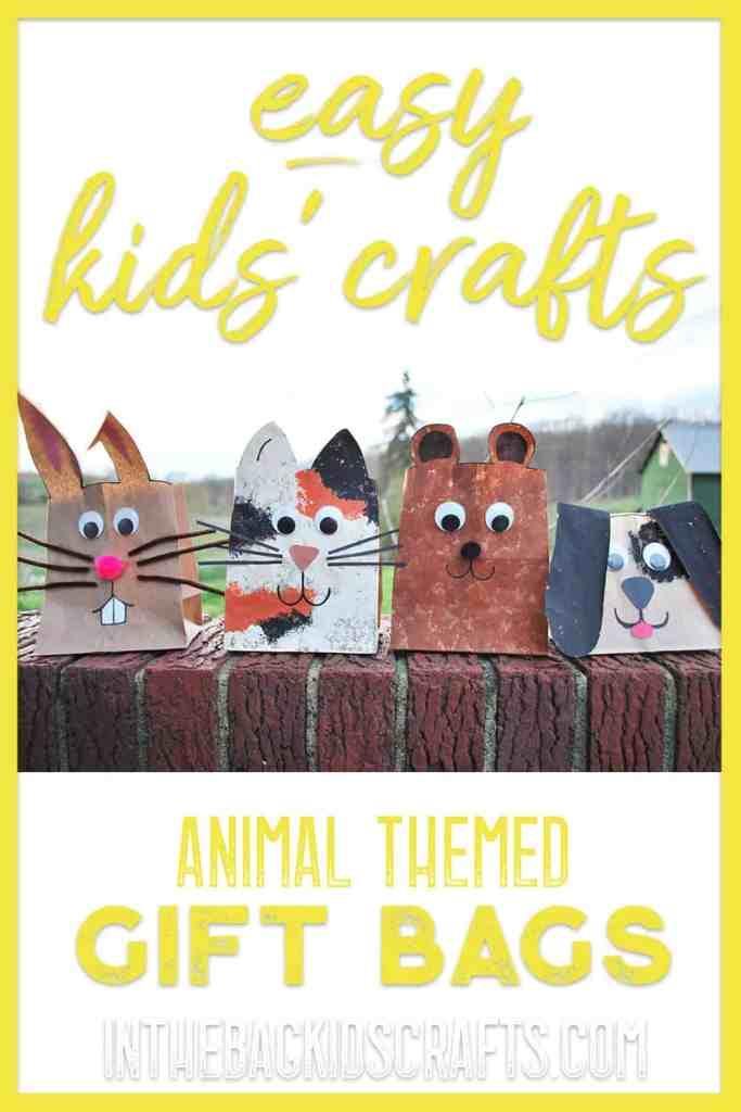 animal gift bags kids crafts