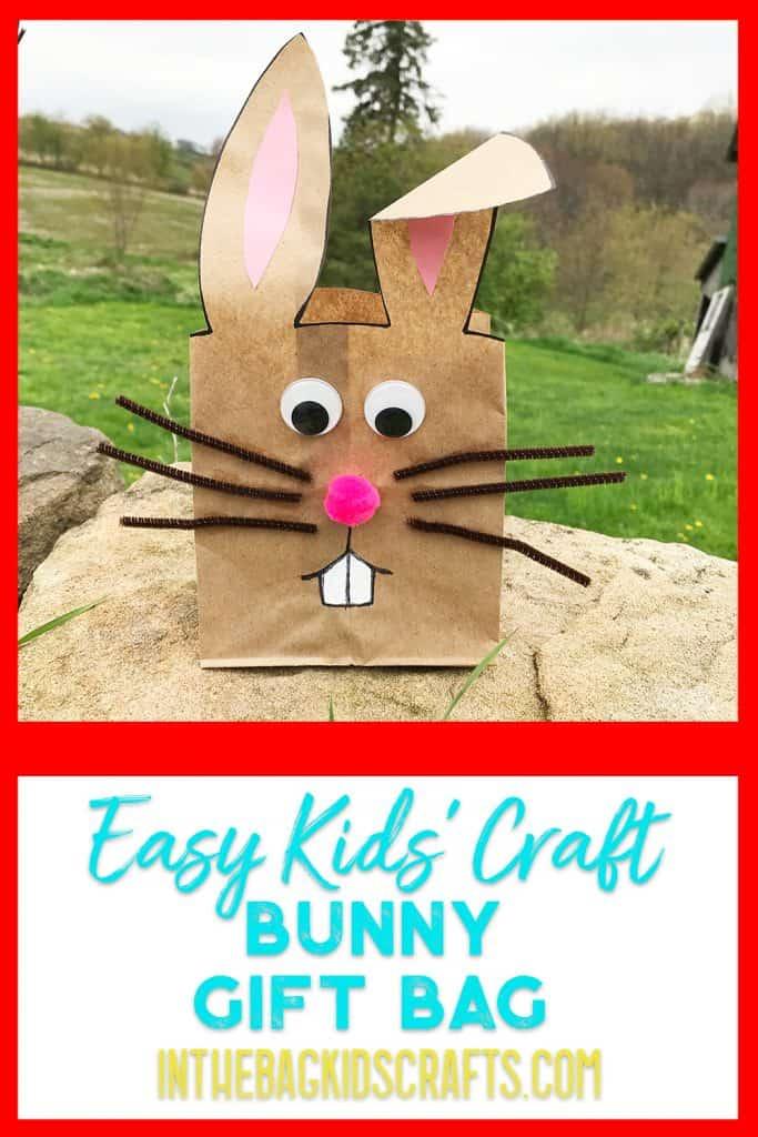 bunny gift bag kids craft