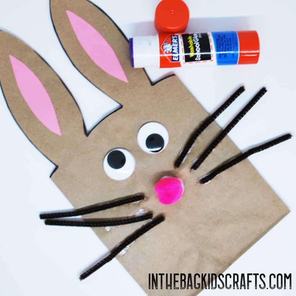 bunny gift bag kids craft step 3b