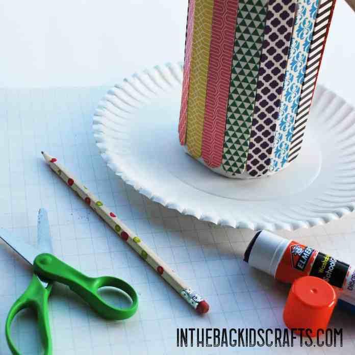 popsicle stick pencil holder step 5