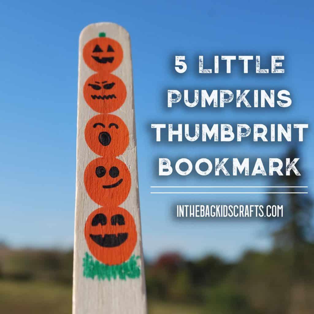 5 little pumpkins bookmark
