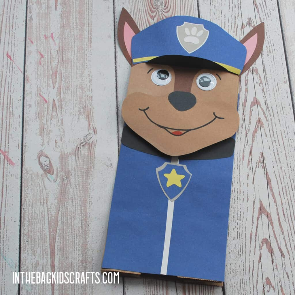 PAW PATROL PAPER CRAFTS FOR KIDS CHASE PUPPET