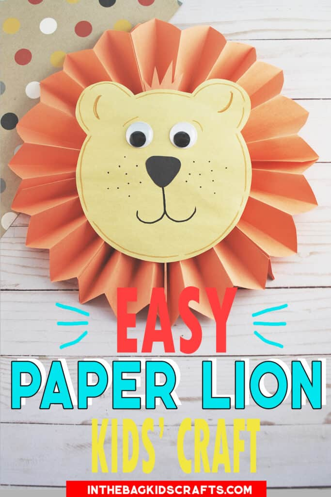 EASY LION CRAFT FOR KIDS