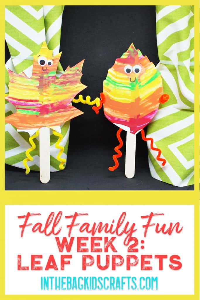 Fall Family Fun Night Challenge Week 2: Autumn Leaf Puppets