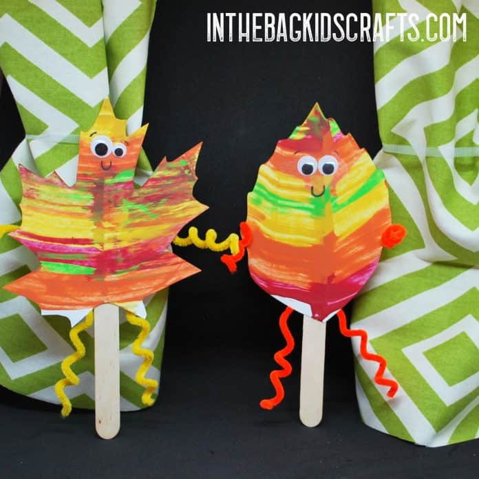 Fall Puppet Show Autumn Leaf Puppets Craft