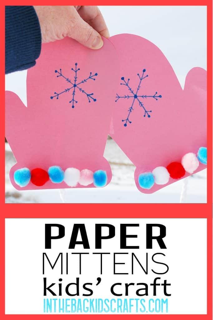 Paper Mitten Craft