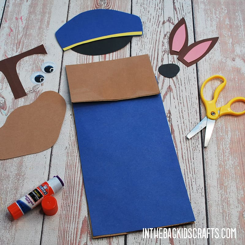 PAW PATROL PAPER CRAFTS PUPPET STEP 2