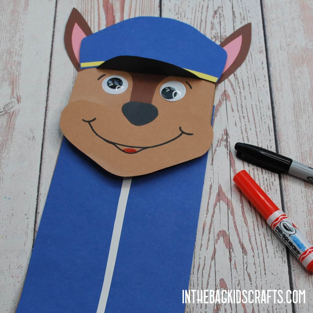 PAW PATROL PAPER CRAFTS PUPPET STEP 3
