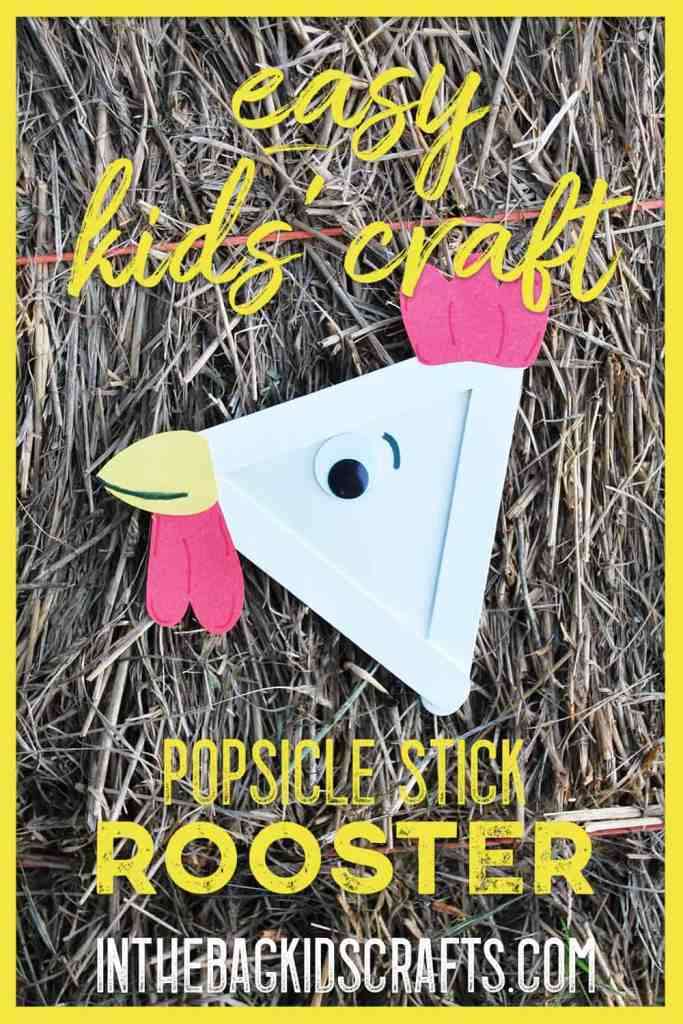 popsicle stick rooster