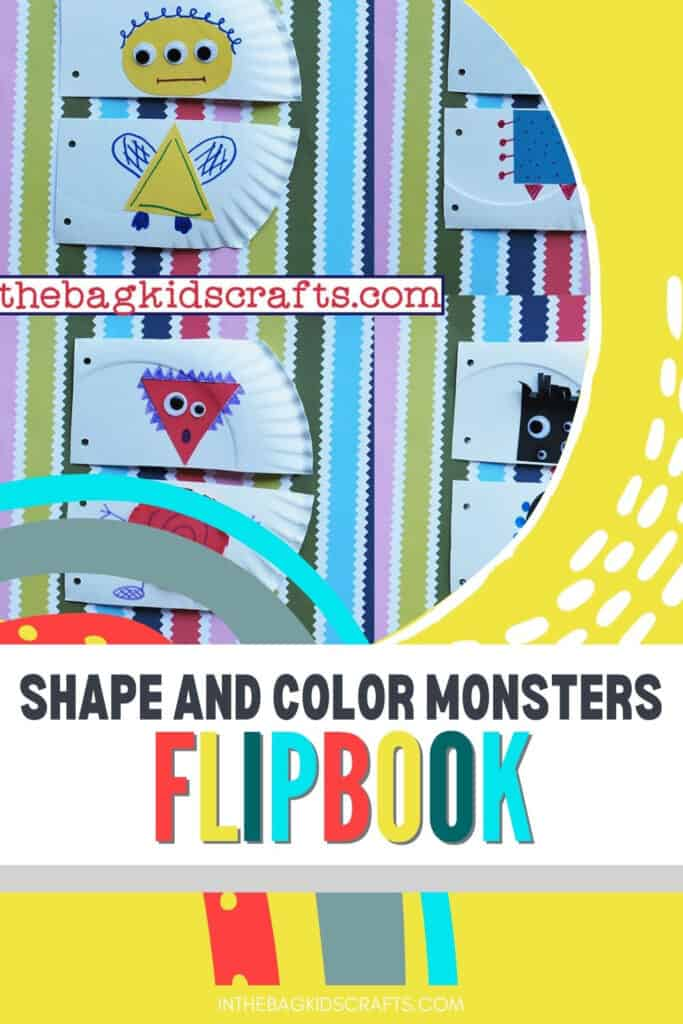 LEARNING ABOUT SHAPES MONSTER FLIPBOOK