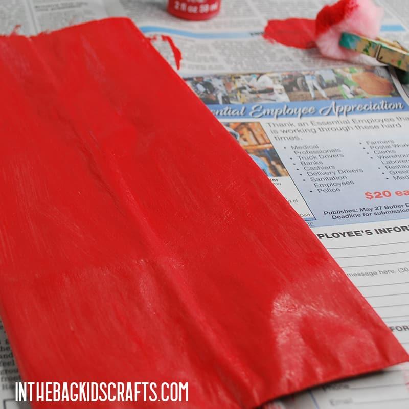 SANTA CLAUS PAPER CRAFT STEP 1