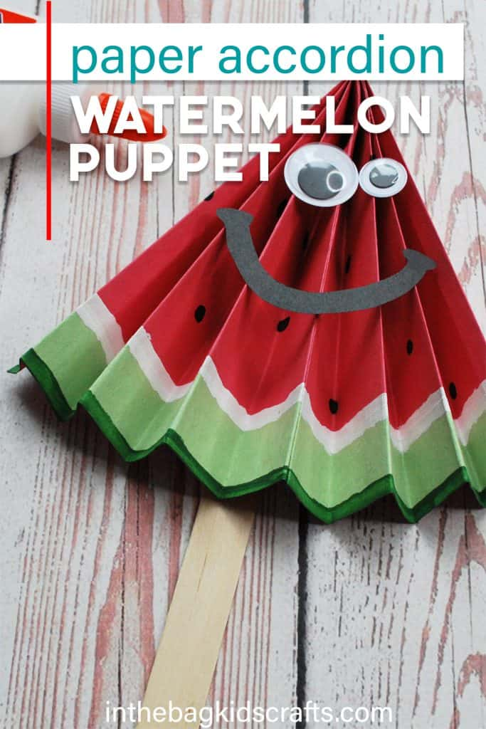 EASY WATERMELON PAPER CRAFTS PUPPET
