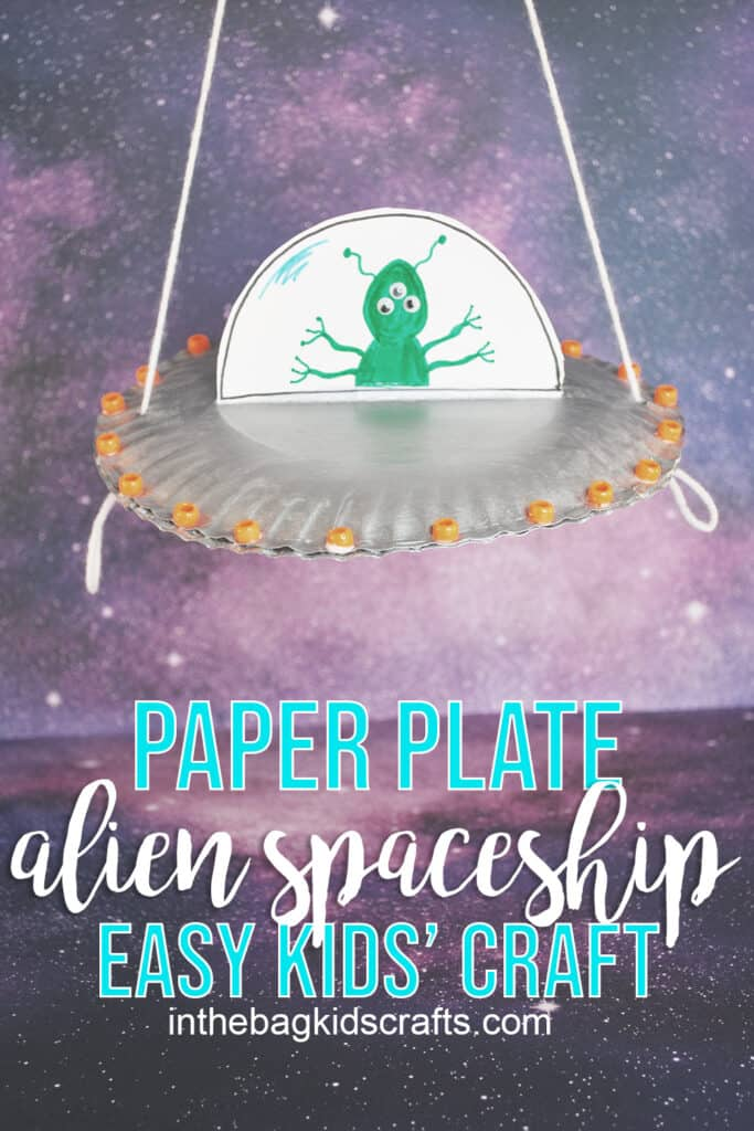 ALIEN PAPER PLATE SPACESHIP CRAFT FOR KIDS