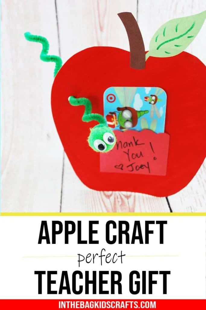 DIY TEACHER APPRECIATION GIFT GIFT CARD HOLDER