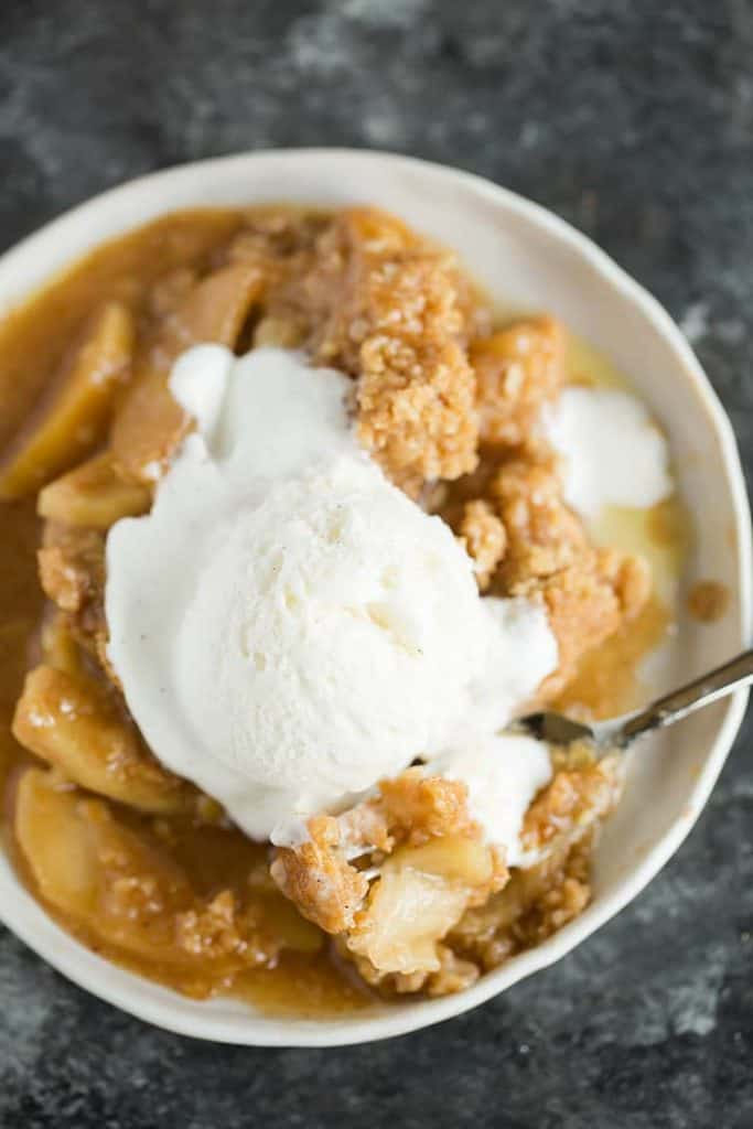 Easy Apple Crisp from Brown Eyed Baker