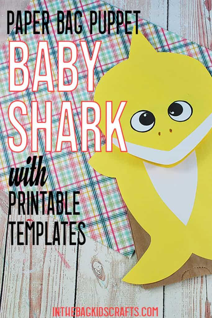 SHARK CRAFTS FOR KIDS PUPPET