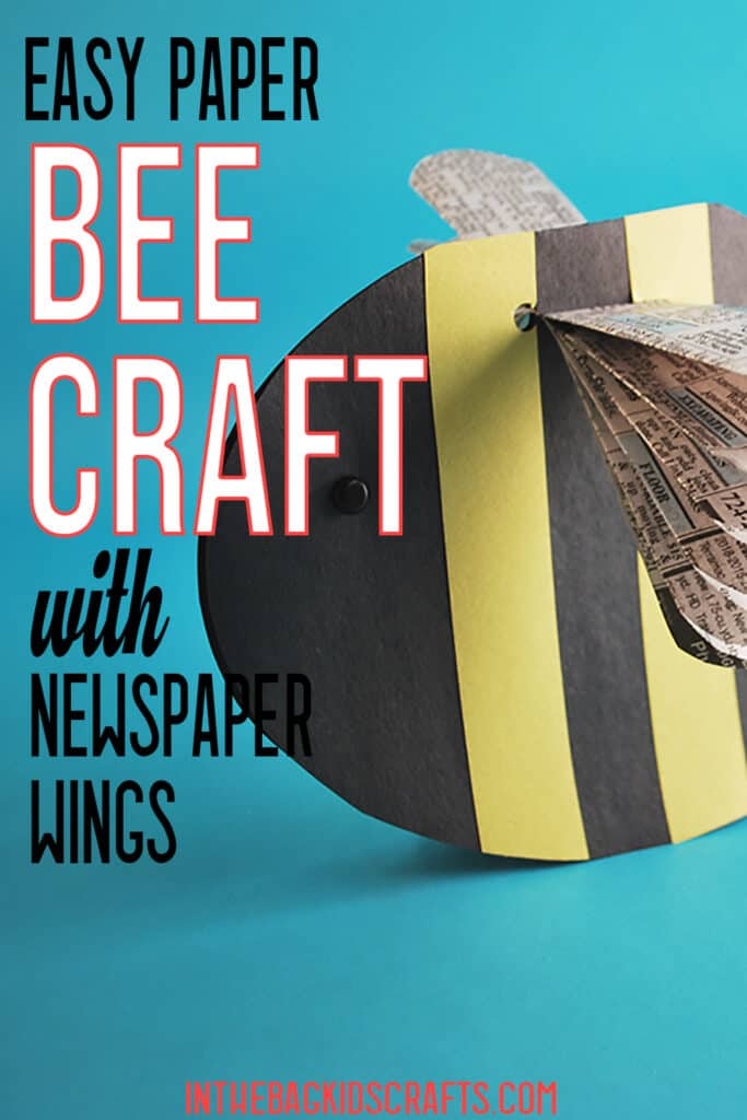 EASY PAPER BEE CRAFT