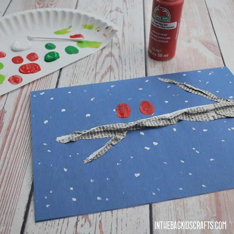 FINGERPRINT CHRISTMAS CARDS STEP 4 RED BIRDS